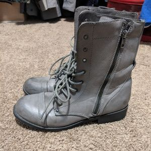 Bamboo Distressed Military Boot